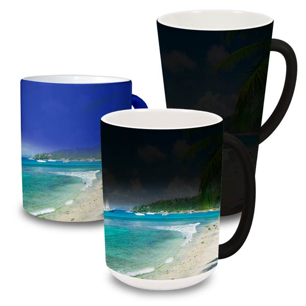 Add a smile to anyone's face with a custom magic color changing mug