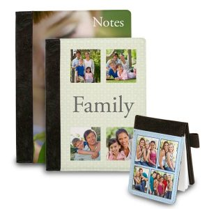 Keep your notes in style with a personalized folio note book with your photos on the cover