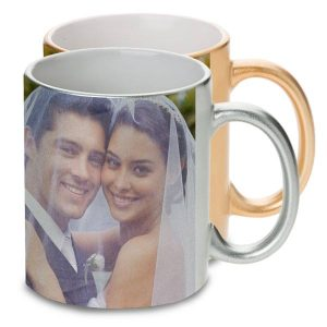 Create an elegant metallic photo mug for special occasions