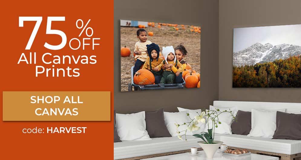Create Custom canvas prints and save